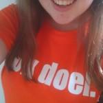 Een Ok doeL.-shirt in plaats van een Ok doei..-shirt voor het WK in 2014. Ingezonden door Babet.