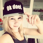 Foto van @charly.on.the.run op Instagram met een Ok doei. pet (snapback)