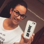 Foto van @kleinekylie op Instagram met een Ok doei. hoesje