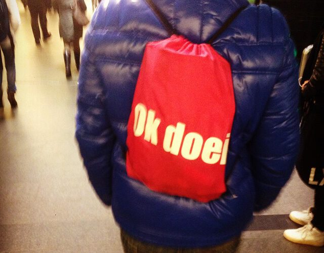 Sporttas op Amsterdam CS