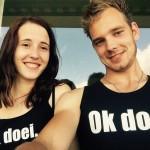Een foto van @vandijkrobin1 en @claudiaxchristina op Instagram met Ok doei..-shirts!