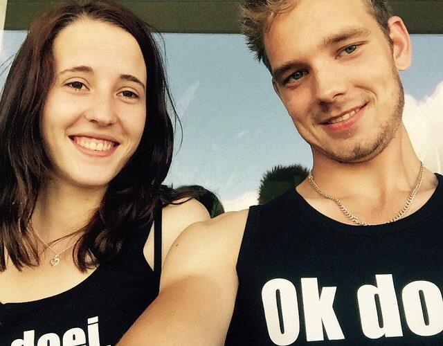 @vandijkrobin1 & @claudiaxchristina met Ok doei. shirts